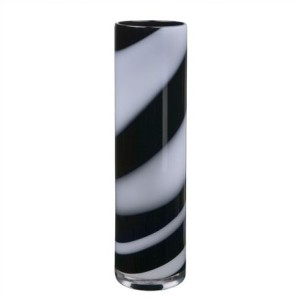 Twist+Tall+Black+&+White+Vase